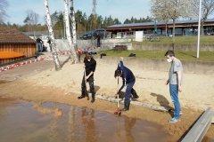 Steg-Fundament eingraben