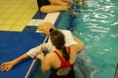 Rettungsschwimmausbildung im Karlsteiner Schwimmbad 2012